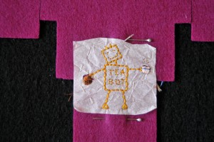 Embroidered Robot