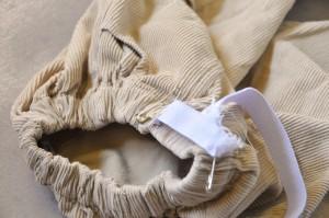 Adding elastic to pants