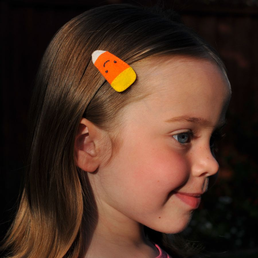 Candy Corn Barrette Tutorial/Giveaway