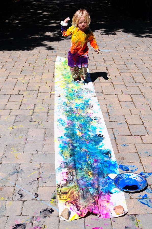 Foot Print Painting