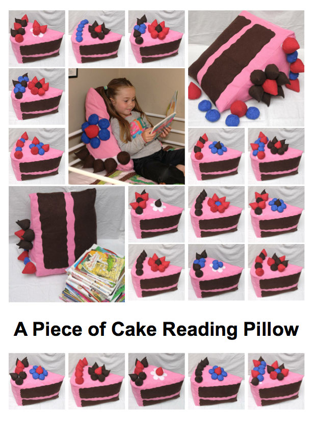 A Piece of Cake Reading Pillow Pattern Cover