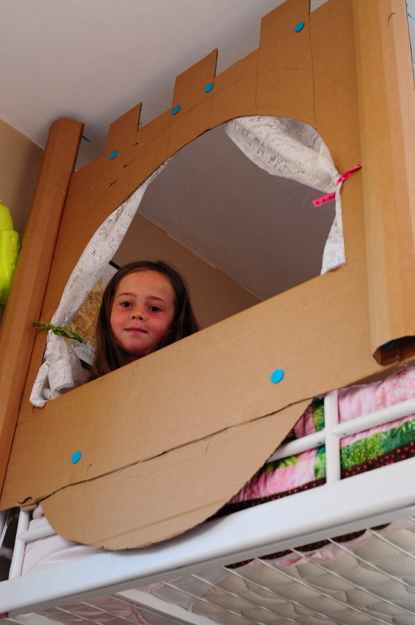 Cardboard bed castle for How to build a castle bed