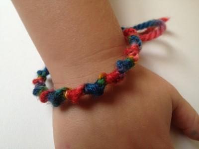 Rainbow Half Hitch Bracelet