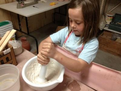Mixing Glaze